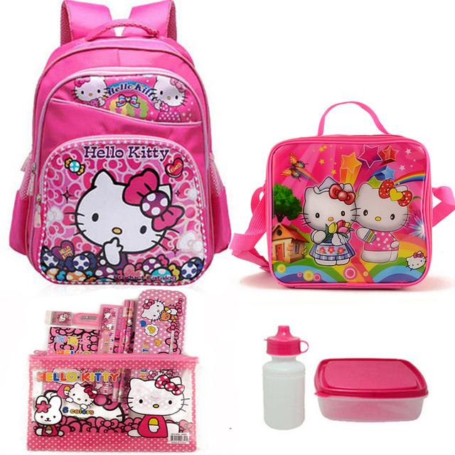 16 дюймов детская школа сумки , установленные для подростков девочек привет китти ...