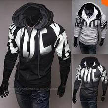Free shipping Autumn Letter print male slim word hoodies fleece casual men's sweatshirt 3 Colors Special pullover sweatshirt(China (Mainland))