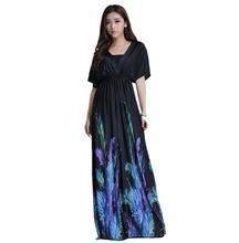 Women Summer Boho dress Vestidos Largos Robe Femme Beach Dress Plus Size 6XL Bohemian Maxi Dress(China (Mainland))
