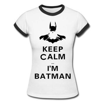 Batman T Shirts 100% Cotton Casual Women T-shirts Woman Short Sleeve O Neck Womens Tees