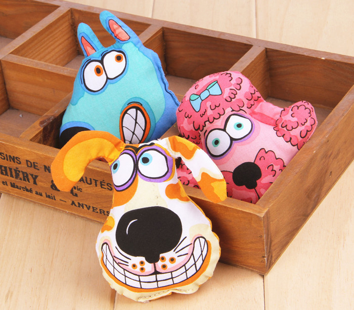 8cm Canvas Clean Tooth Molar Dog Toy Animal Pattern Lovely Durable Pet Supplies(T2-101)(China (Mainland))