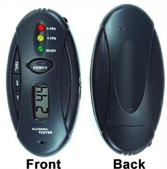 Free shipping Breath Alcohol Tester Breathalyzer Flashlight led display alcohol tester mini keychain alcohol tester 400pcs/lot