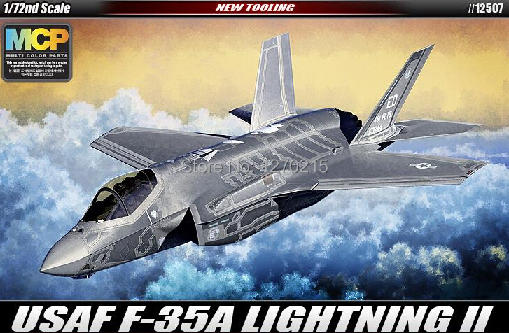 Academy MODEL 12507 1/72 scale F-35A Lightning II plastic model kit(China (Mainland))