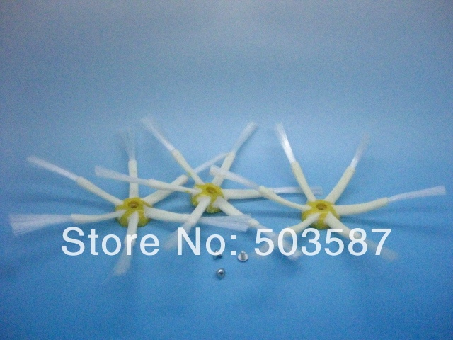 Free shipping! Lot of 3 pcs 6 arms side brush/brushes for Roomba 500 560 760 770 780 Series vacuum cleaner with Screw