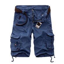 Kamuflaż Camo Cargo szorty męskie 2019 nowy męskie spodenki na co dzień męskie luźne spodenki męskie wojskowe krótkie spodnie Plus rozmiar 29-44(China)