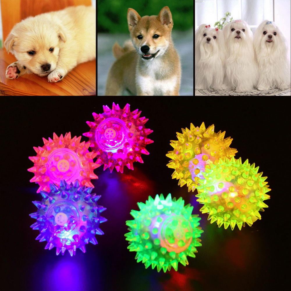 Free shipping 1pcs Dog Puppy Cat Pet Hedgehog Ball Rubber Bell Sound Ball Fun Playing Toy Hot Worldwide Brand New(China (Mainland))