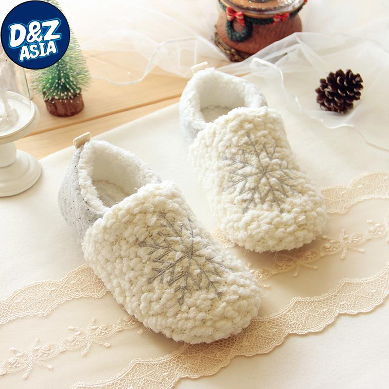 2015 Christmas snow winter high-end series Rongrong indoor warm shoes, electric show fresh snow cotton home slippers<br><br>Aliexpress