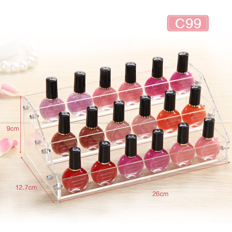 Cosmetic Storage Rack Acrylic Organizer Desktop Nail Polish Organizer Crystal Makeup Display Holder Case for Bedroom(China (Mainland))