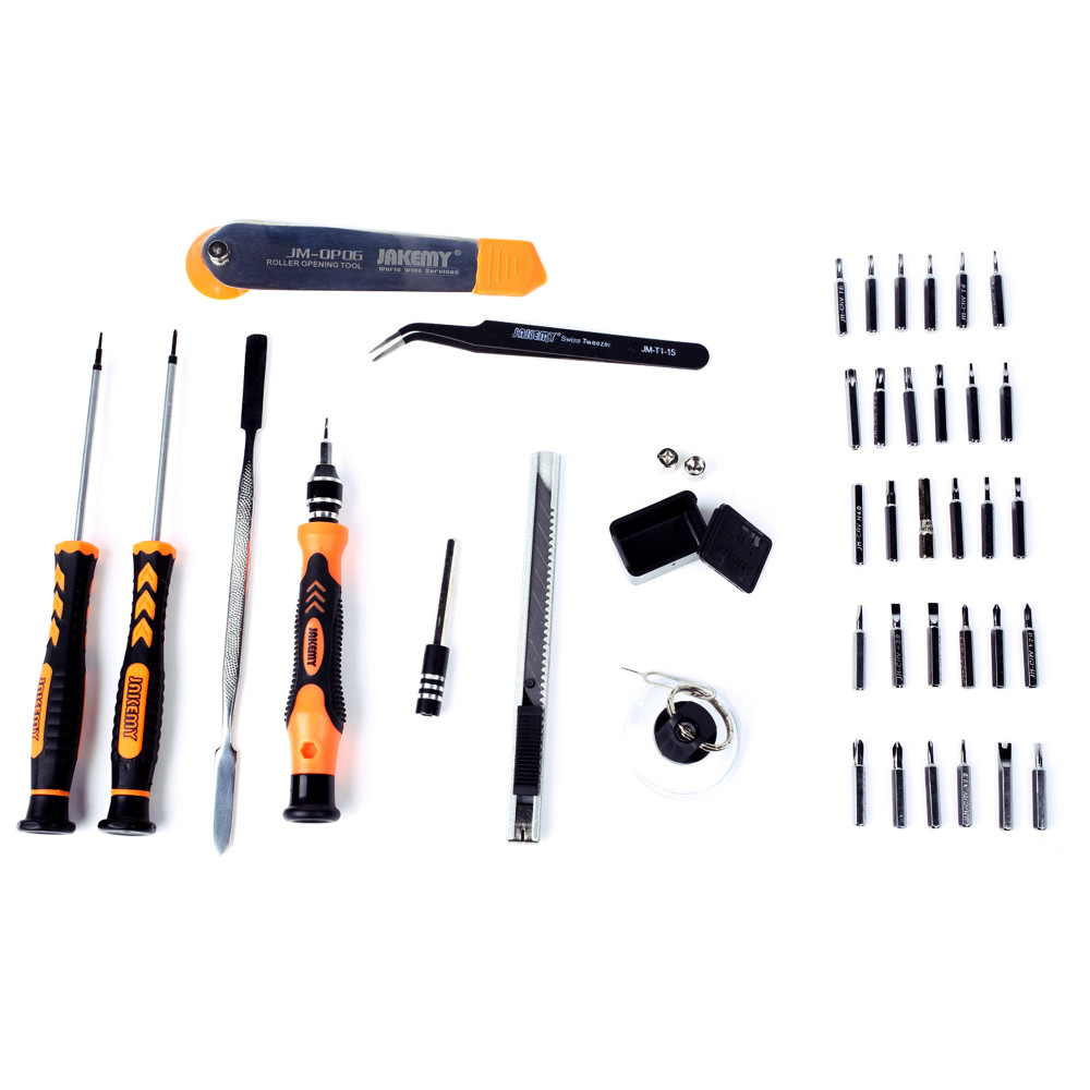 Buy JAKEMY 45 in 1 Professional Electronic Precision Screwdriver Set Hand Tool Box Set Opening Tools for iPhone PC Repair Tools Kit cheap