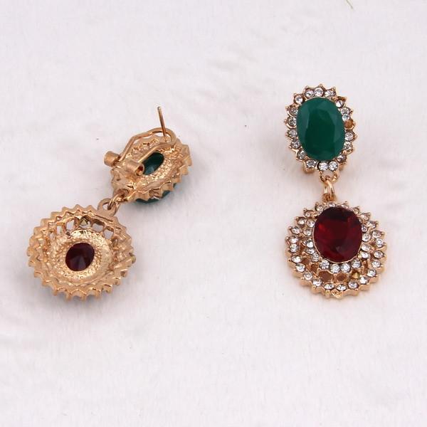 Новинка африки 18 К позолоченные горный хрусталь ожерелье серьги устанавливает старинных 18 К позолоченный кристалл горный хрусталь ювелирных изделий
