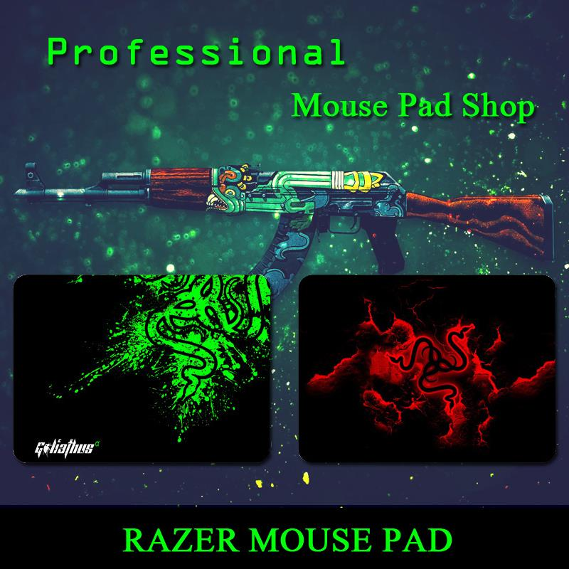 Razer mouse pad for CS:GO,league of legends,Wow,more Size for gamer.professional razer mouse pad shop.Two colors(China (Mainland))