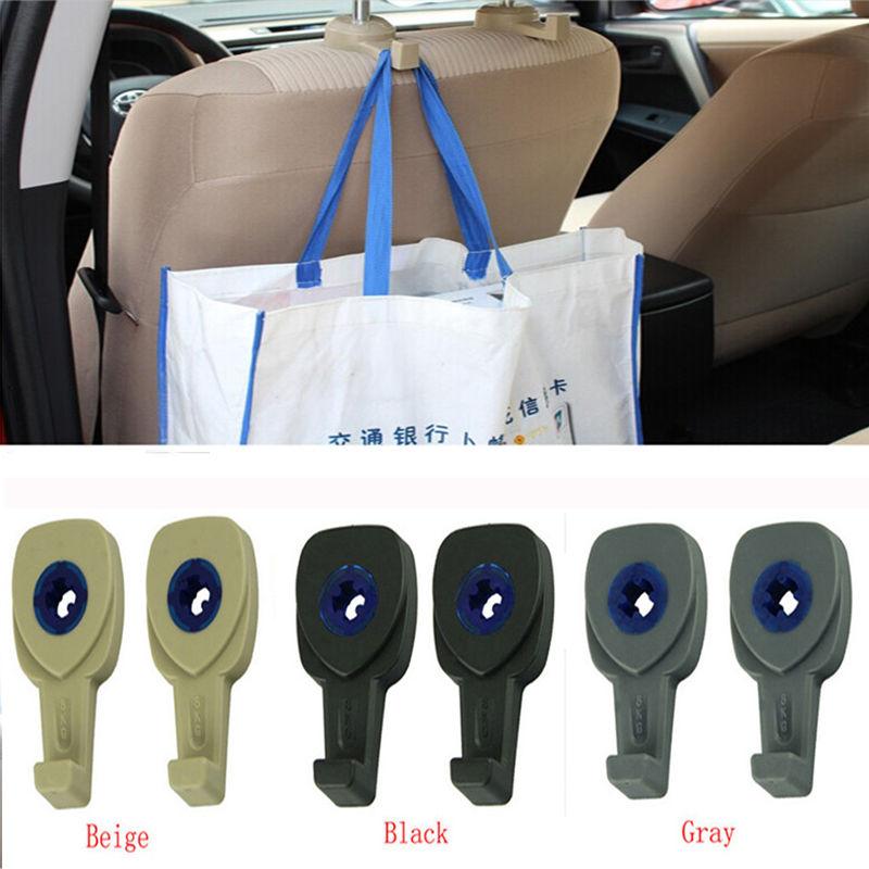 Car Hanger Auto Bags Organizer Hook Car Seat Headrest Holder Hanger Tools Trip 2pcs