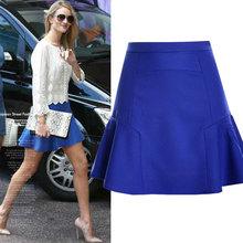 2015 Summer Style High Waist Women Skirt Colorful Party Skirt Irregular Mermaid Chiffon Skirt High Quality Mini Skirt SK003