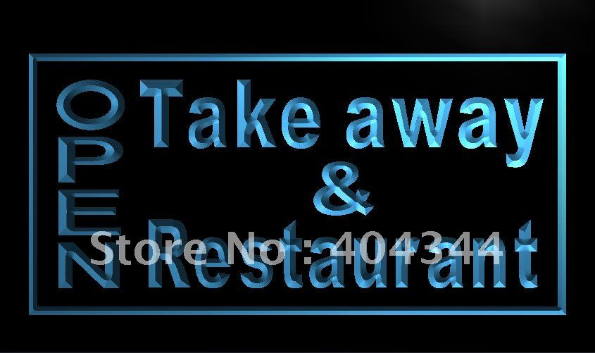 LK990- OPEN Take Away Restaurant LED Neon Light Sign home decor shop crafts(China (Mainland))