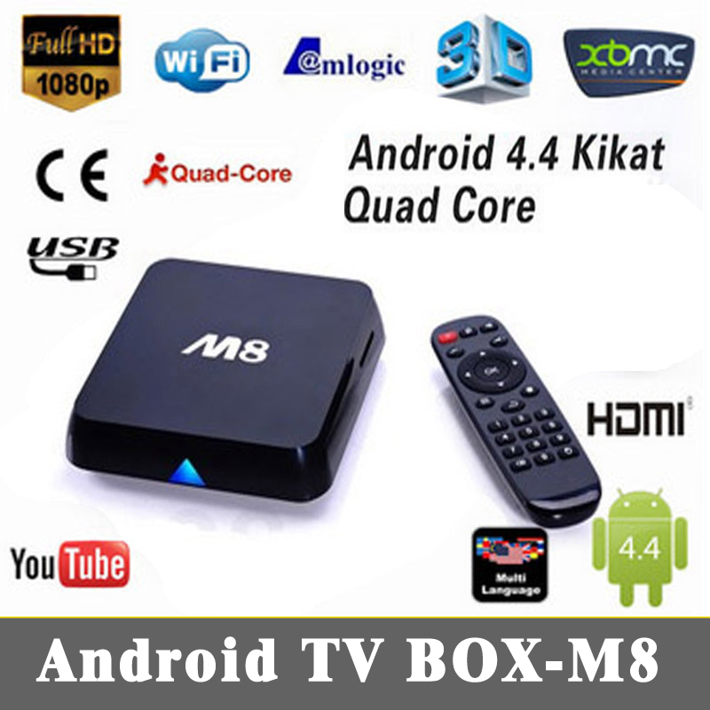 Hot M8 Amlogic S802 Quad Core 2.0GHz Android TV Box 4.4 Kikat XBMC 4K HDMI Dual WiFi 2.4G/5G 2G/ 8GB Bluetooth M8 Smart TV Box(China (Mainland))