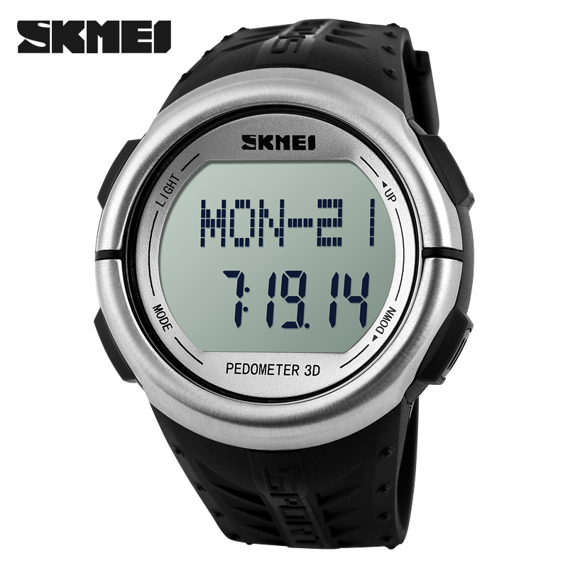Skmei Unisex Outdoor LED Sports Watch Pedometer Heart Rate Monitor Calories Counter Digital Sport Watches Fitness for Men Women