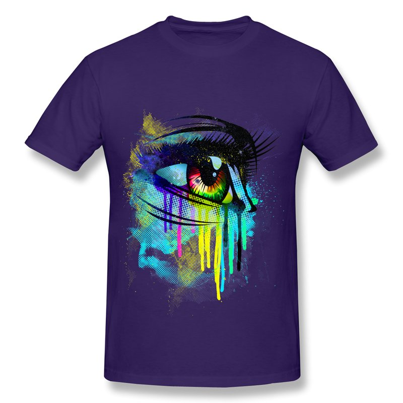 Tshirt man slim fit tears of colors custom men 39 s t shirts for Custom shirts and hoodies cheap