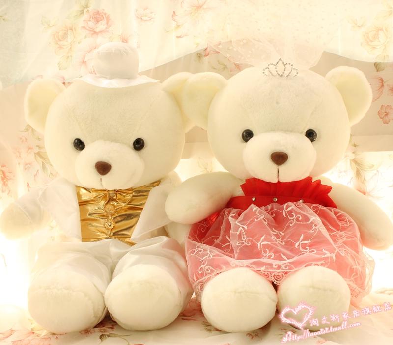 Wedding bear lovers bear marriage wedding bear filmsize doll wedding gift Large(China (Mainland))