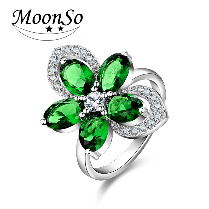 aliexpress buy moonso 925 sterling silver ring cz