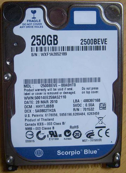 """2.5"""" HDD IDE PATA 250GB Internal Hard Disk Drive HDD for old laptop notebook,Please refer to picture for more detail(China (Mainland))"""
