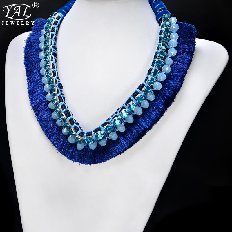 Fashion Jewelry Tassel Vintage Choker Bib Collar Pendant Necklaces For Women 2015 Statement Necklaces Weave Rope necklaces&amp;Boxes<br><br>Aliexpress