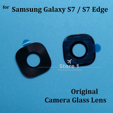 Buy 2pcs/Lot Original Camera Glass Lens Samsung Galaxy S7 / S7 Edge Rear Camera Lens Replacement Part Adhesive Sticker for $3.49 in AliExpress store