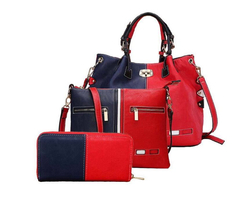 3 Pcs/Set Fashion Handbags Women Messenger Bags Female Purse Solid Shoulder Bags Office Lady Genuine Leather Tote(China (Mainland))