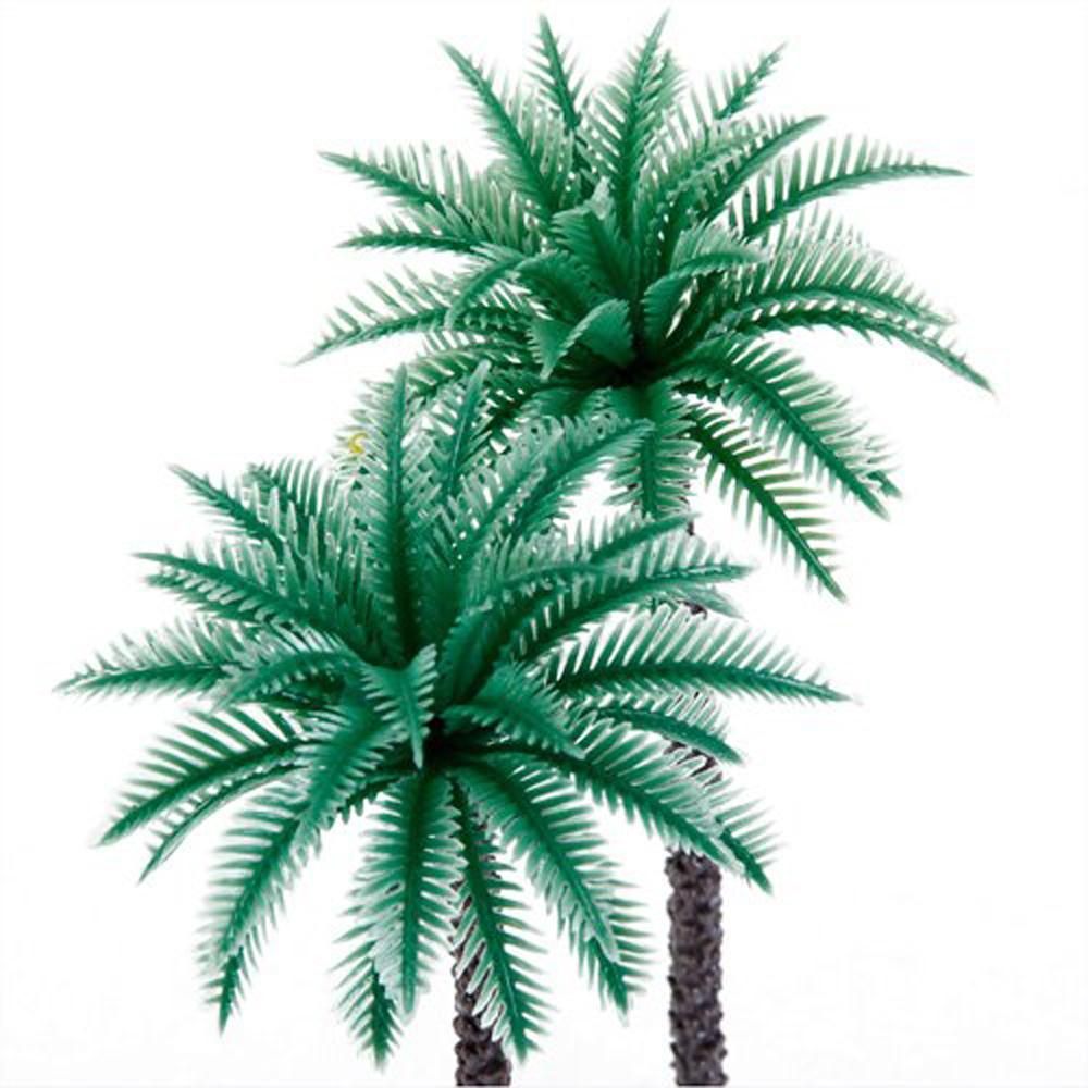 June Queen! 14Pcs 1.9 Inch - 6.6 Inch Model Coconut Palm Trees Layout Train Scale 1/50(China (Mainland))