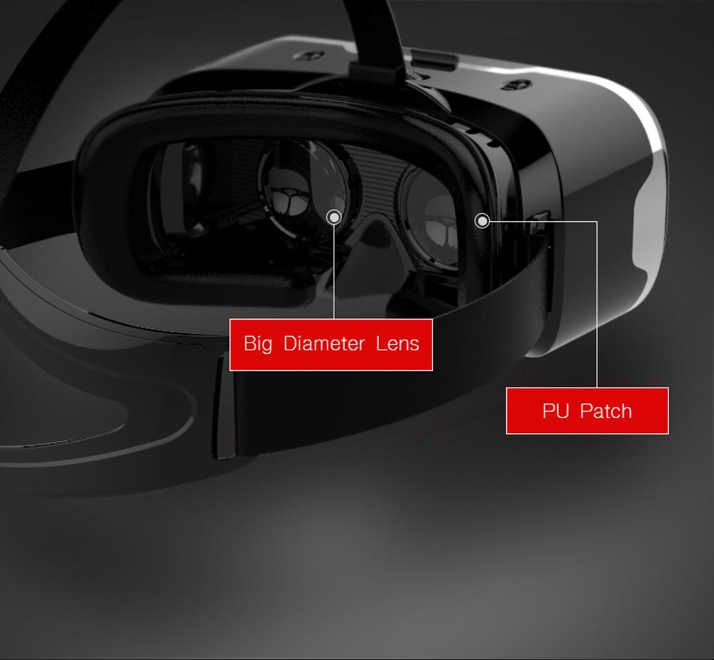 """ถูก 3d vr shinecon 2.0แว่นตาเสมือนจริงหมวกกันน็อคกล่องแว่นตากรณีgoogleกระดาษแข็งสำหรับ4.7-6.0 """"ios a ndroidโทรศัพท์+เกมgamepad"""