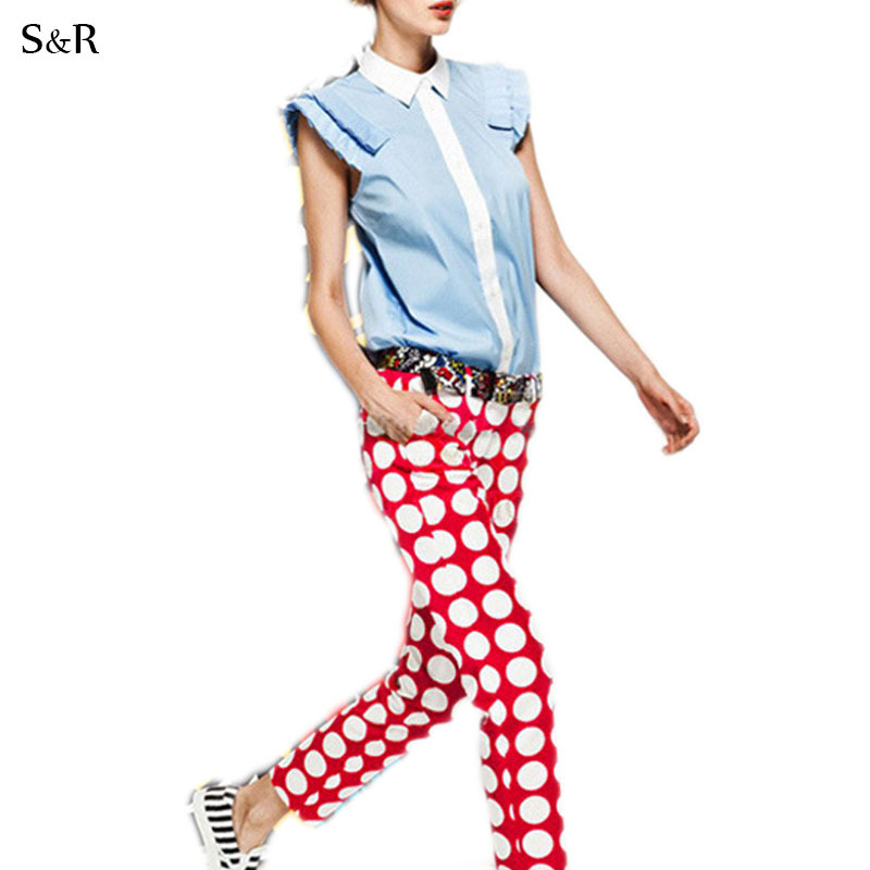 Cool 2015 Fashion Women Bust Red Pleated Pants Smooth Woven Culottes  Buy
