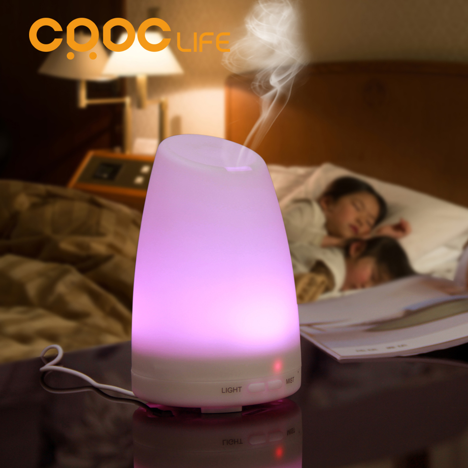 CRDC LIFE Ultrasonic Air Aroma Humidifier With Changing 7 Color LED Lights Electric Aromatherapy Essential Oil Aroma Diffuser(China (Mainland))