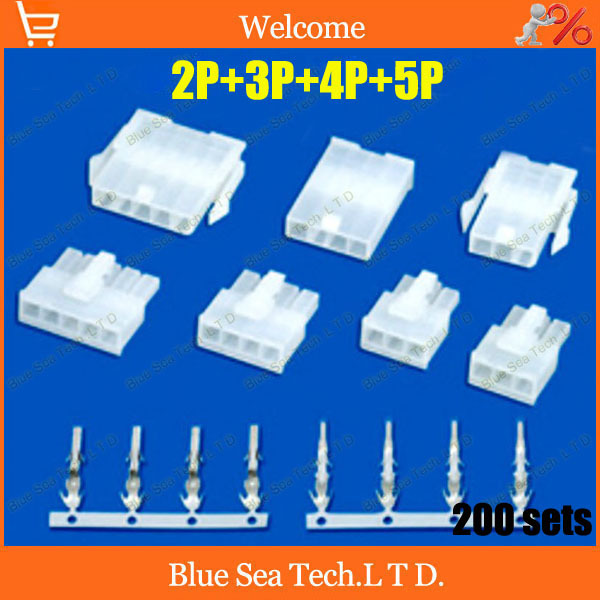Free Shipping 200 sets 2Pin+3Pin+4Pin+5Pin 4.2mm 5557 wiring terminal Electrical connector plug kits for car/boat ect.<br><br>Aliexpress