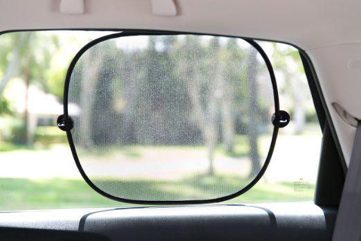 Essential 2Pcs Lot Black Side Car Sun Shade Rear Window Sunshade Cover Auto Accessories Mesh Visor