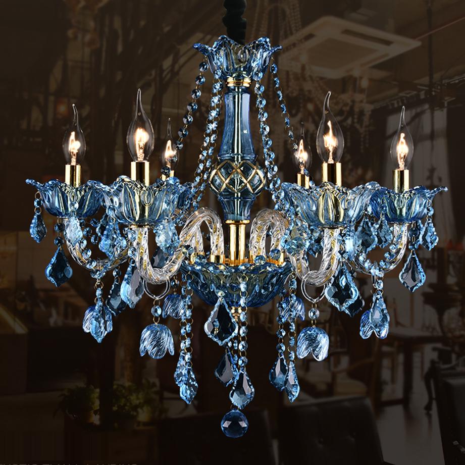 Acquista all'ingrosso online hotel blu lampadario moderno da ...