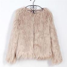 Naiveroo 毛皮のようなファーコート女(China)