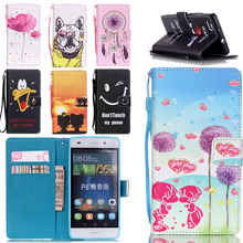 Luxury Mobile Phone Funda For Ascend Huawei P8 Lite Cover Flip Case PU Leather Cover for Huawei P8 Lite Protective Shell Skin