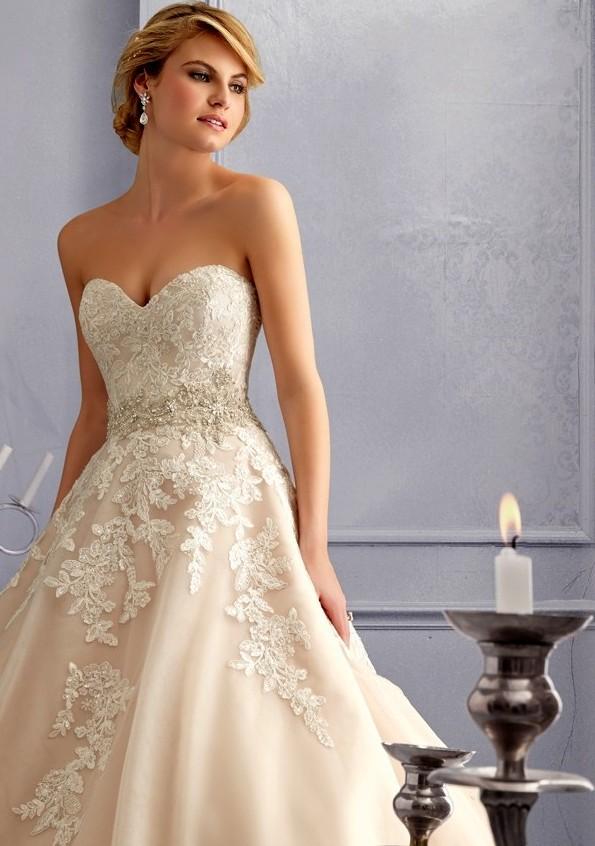 champagne ball gown wedding dresses « Bella Forte Glass Studio