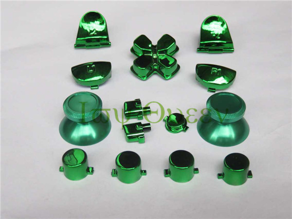 IVY QUEEN Custom Metal Green Joystick For Sony Dualshock 4 PS4 Controller Chrome R2 L2 R1 L1 Dpad Action Buttons share option<br><br>Aliexpress