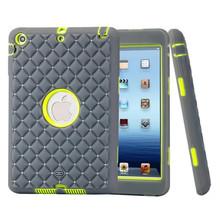 For Apple Ipad Mini 2 bling Heavy Duty Cover Shock Proof Silicone + PC hard Back Case For ipad mini 1 2 3(China (Mainland))