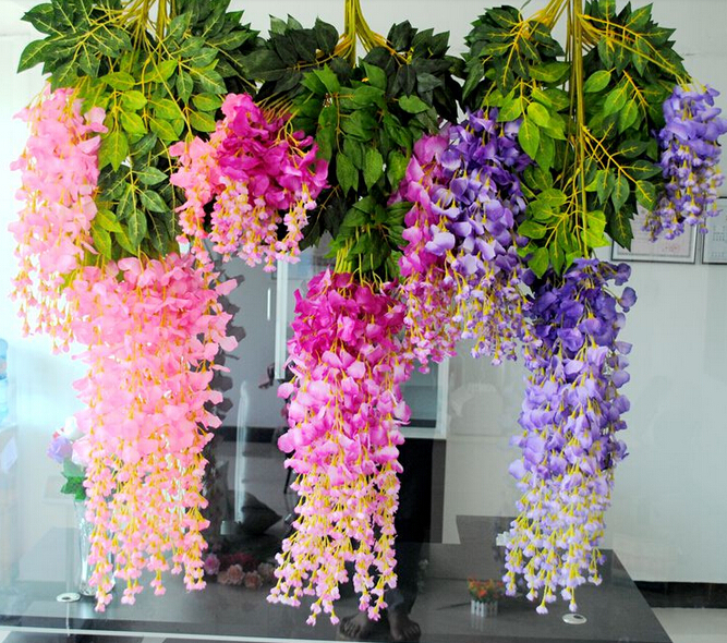 Artificial flower wisteria bean silk wedding flowers Artificial flower decoration for home