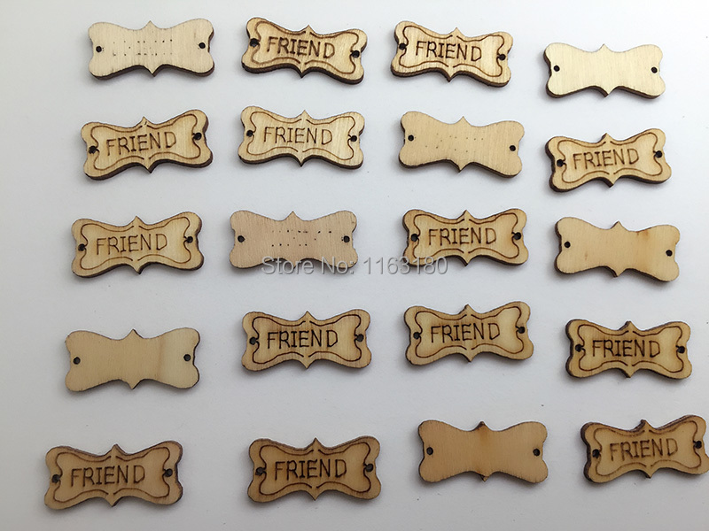 600 pcs/lot Rustic Wood Wooden Love Wedding Table Scatter Decoration Crafts DIY(China (Mainland))
