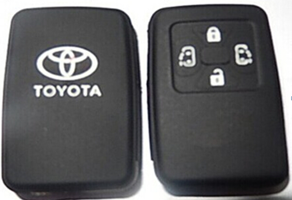 toyota Silicone car key case for Toyota smart   car key cover Toyota silicone car key case 4 buttons<br><br>Aliexpress