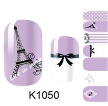 Eiffel Tower Art Nail Sticker Gel Beauty Decal makeup pink color for nail art stickers K1050 fingernail stickers