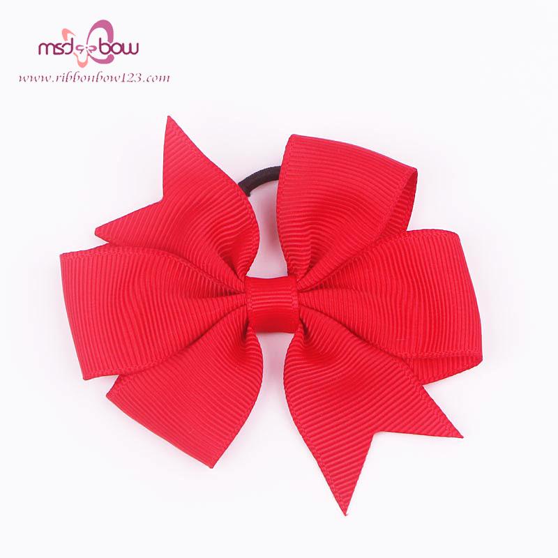 Top Quality 5PC Six Head Fish Thread Ribbon Bow Hair Ring Hair Accessories Fashion Multipurpose Elastic Hair Bands FQ01805(China (Mainland))