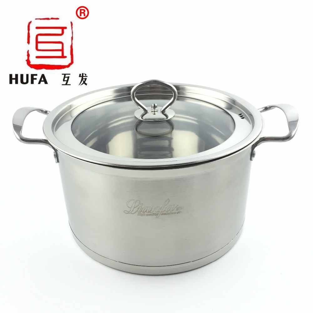 2016 Hot Sale HUFA 24cm double bottom stainless steel soup pot/non-magnetic multi-function stainless steel casserole/stock pot(China (Mainland))