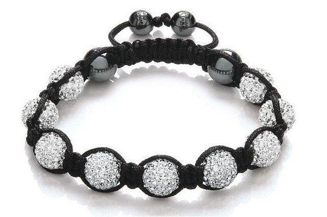 wholesale FREE Shipping  Shamballa white Czech Crystal 10mm Beads Ball Handmade Bracelet,fashion bracelet jewelry