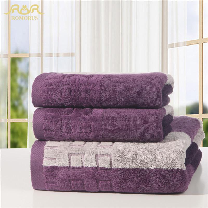 ROMORUS Plain Yarn Dyed Luxury Hotel Towel Collection Wholesale Adults Plain Blue/Brown Beach Towel Set Clearance RMR271232(China (Mainland))