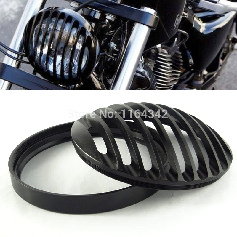 High Quality Black Aluminum Headlight Grill Cover For 2004 2012 Harley Sportster XL 883 1200 fit