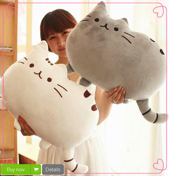 40*30cm Plush Toys Stuffed Animal Doll Talking Animal toy Pusheen Cat For Girl Kid Kawaii Cute Cushion Brinquedos Free Shipping(China (Mainland))
