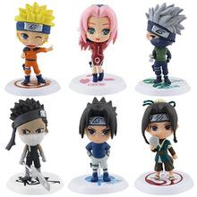 Buy 6Pcs/set Anime Naruto Cartoon Q Version Naruto/Kakashi/Sakura/Sasuke/ PVC Model Toys Action Figure Kids Collectible Toy Doll for $5.00 in AliExpress store